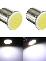 cheap -2 x 12V 1157  12-SMD COB White Car Brake Parking Light Bulbs