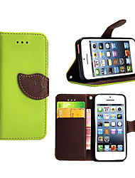 abordables -Coque Pour Apple iPhone X iPhone 8 Plus Coque iPhone 5 Porte Carte Portefeuille Avec Support Clapet Coque Intégrale Couleur unie Dur faux