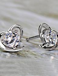 A forma di cuore Orecchini a bottone Gioielli Cuore Pietre dei segni