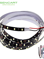 200cm 10W 120x3528SMD White / Cool White  Light LED Strip Lamp for Car + 11-Key RF Controller (DC 12V)