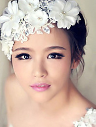 cheap -Crystal Rhinestone Fabric Tiaras Flowers 1 Wedding Special Occasion Party / Evening Headpiece