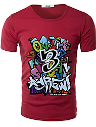 MEN - T-shirt - Informale Rotondo - Maniche corte Cotone/Pelliccia