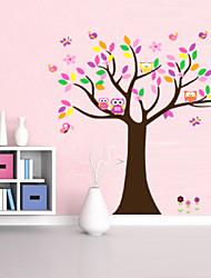 bellissimo albero colorfull per la decorazione domestica adesivo zooyoo5084 decorativo della parete del PVC smontabile