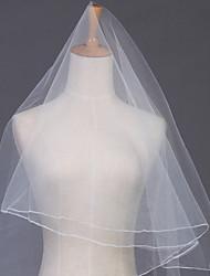 Недорогие -Один слой Закруглённый край Свадебные вуали Соборная фата с 102,36 в (260cm) Тюль / Фата, закрывающая лицо