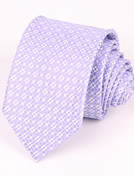 cheap -Men's Party/Evening Wedding Formal Purple Flower Silk Necktie