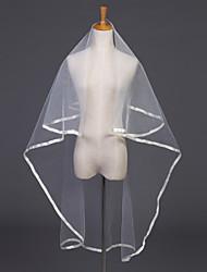 Wedding Veil One-tier Elbow Veils Ribbon Edge 47.24 in (120cm) Tulle White Ivory