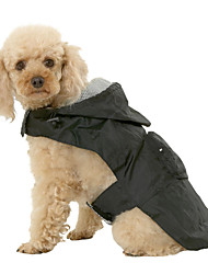 preiswerte -Hund Regenmantel Hundekleidung Solide Schwarz Rot Blau Nylon Kostüm Für Haustiere Herrn Damen Wasserdicht
