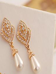 cheap -Women's Drop Earrings Love Costume Jewelry Pearl Imitation Pearl Cubic Zirconia Rhinestone Alloy Heart Jewelry For