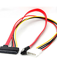 cheap -22 Pin Sata Power Data to 4-Pin IDE Molex & Sata Port Connector Cable
