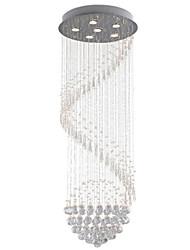 baratos -6-luz Cristais Luzes Pingente Luz Descendente - Cristal, LED, 110-120V / 220-240V, Branco Quente / Branco Frio, Lâmpada Incluída / GU10