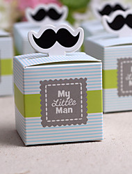 "cheap -""My Little Man"" Moustache Favor Box(Set of 12) Classical Feminine Style"