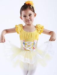 preiswerte -Ballett Kleider Kleider & Röcke Balletröckchen und Röcke Training Leistung Baumwolle Tüll Kurze Ärmel Prinzessin Kleid