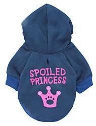 cheap -Cat Dog Hoodie Dog Clothes Tiaras & Crowns Blue Cotton Costume For Pets Men's Women's Fashion