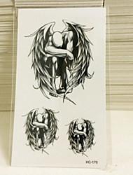 Недорогие -1 pcs Временные татуировки Водонепроницаемый / Non Toxic Бумага Временные тату / Нижняя часть спины / Waterproof