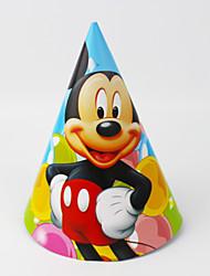 Недорогие -Микки Маус бумаги шляпу 12шт