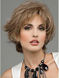 Недорогие -Человеческие волосы без парики Натуральные волосы Волнистый Короткие Прически 2019 Стиль Без шапочки-основы Парик