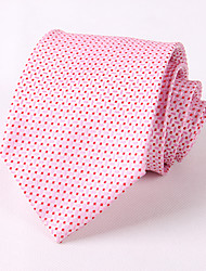 cheap -Men's Party/Evening Wedding Formal Pink Dots Polyester Idea Groom Necktie