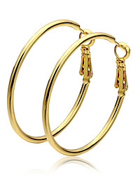 cheap -Women's Hoop Earrings - Gold Plated Gold For