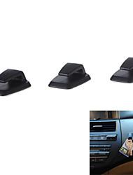 3Pcs Convenient Mini Self-Adhesive ABS Car Hook Hanger