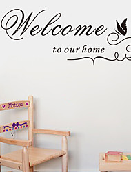 Welcome To Our Home Quote Wall Decals Zooyoo8181 Decorative Adesivo De Parede Removable Vinyl Wall Stickers