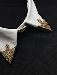abordables -moda europeo ahuecar clip de cuello de aleación broche (1 par)