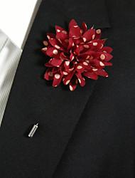 Недорогие -мужские случайные красные и белые точки шелковые изделия брошь элегантный стиль