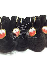Cabelo Humano Cabelo Brasileiro Cabelo Humano Ondulado Ondulado Extensões de cabelo 1 Peça Preto jet