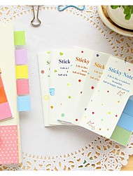 Han edition creative stationery color pad (Random Color)