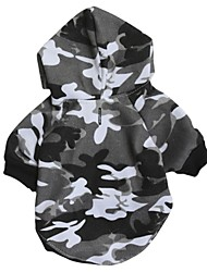 cheap -Cat Dog Hoodie Dog Clothes Camouflage Gray Cotton Costume For Pets Men's Women's Casual/Daily Fashion