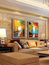 cheap -Oil Painting Hand Painted - Landscape Classic Canvas