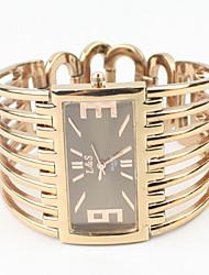 Da donna Orologio alla moda Orologio braccialetto Quarzo Lega Banda Braccialetto classe Oro rosa