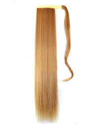 abordables -Blond Beige (#22) Synthetic Queue de cheval Droit (Straight) Micro Ring Hair Extensions Queue de cheval 22inch gramme Moyen (90g-120g)