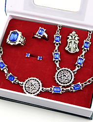 cheap -Jewelry Inspired by Black Butler Ciel Phantomhive Anime Cosplay Accessories Necklace / Badge Artificial Gemstones / Alloy Men's / Women's New / Hot Halloween Costumes