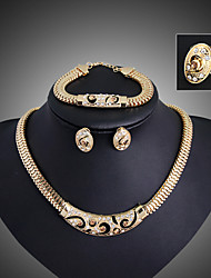 cheap -Jewelry Set Vintage Party Work Casual Link/Chain Statement Jewelry Party Gemstone & Crystal Cubic Zirconia Alloy Bracelet Necklace