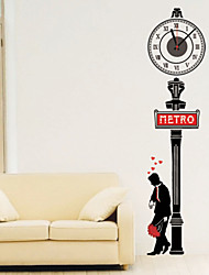 cheap -Modern Style DIY Romantic Street Mute Wall Clock