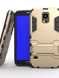 preiswerte -Für Samsung Galaxy Hülle Stoßresistent / mit Halterung Hülle Rückseitenabdeckung Hülle Panzer PC Samsung S5