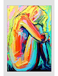 cheap -Oil Painting Modern Figure Style , Canvas Material with Stretched Frame Ready To Hang SIZE:60*90CM.