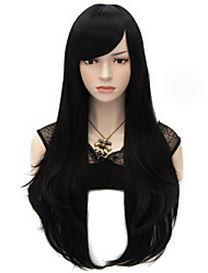 cheap -70cm Style Natural Straight Fashion Women Party Wig Heat Resist Synhtetic Cosplay costume Wig Black