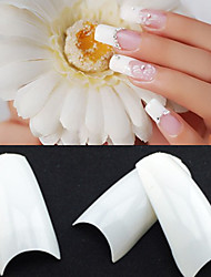 cheap -500 Professional White Korean Standards Half Well False Acrylic Nail Art Tips(50PCSx10 Sizes Mixed)