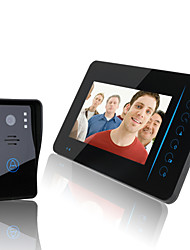 "ENNIO  2.4G 7"" TFT Wireless Video Door Phone Intercom Doorbell Home Security Camera Monitor DVR"
