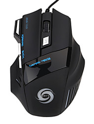 Gaming Mouse 5500 dpi 7 pulsanti LED mouse gaming mouse ottico USB wired per pro gamer