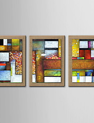 cheap -Oil Painting Hand Painted - Abstract Classic Canvas