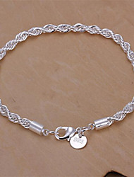 cheap -Women's Sterling Silver Snake Chain Bracelet - Basic Fashion Geometric Jewelry Silver Bracelet For Wedding Party Daily