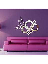 economico -decalcomanie adesivi murali della parete a specchio, cerchio adesivi murali acrilico specchio diy