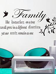 Недорогие -стены стикеры наклейки для стен стиль семьи, как отраслевых английских слов&цитирует наклейки ПВХ стены