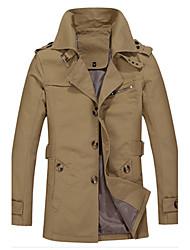 billige -Herre Ensfarvet Chic & Moderne Frakke