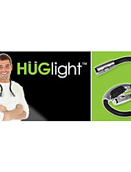 0.5W 50lm 4xled mãos-livres flexível pescoço leitura do livro portátil lâmpada de luz abraço (preto)