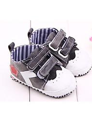 Para Meninos Bebê Rasos Primeiros Passos Tecido Primavera Outono Casual Primeiros Passos Velcro Preto Azul