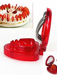 povoljno -1 kom. Jagoda Cutter & Slicer For za voće Nehrđajući čelik / Plastika Kreativna kuhinja gadget