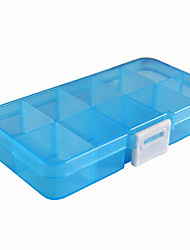 Fashion Plastic Removable 10 Grid Jewelry Boxes Multicolor